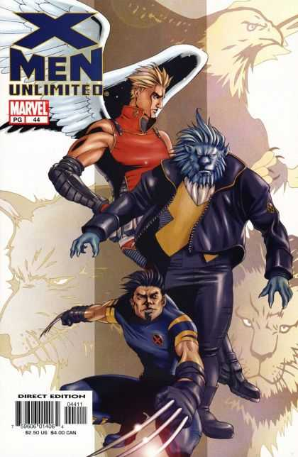 X-Men Unlimited 44 - Claws - Wings - Bird - Gloves - Hair