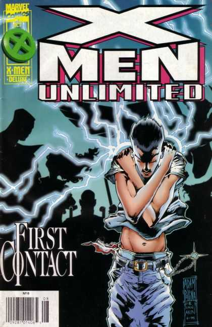 X-Men Unlimited 8 - Marvel - First - Contact - Lightning - Glowing - Laura Martin, Paul Smith