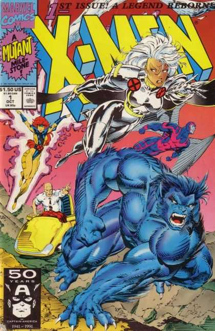 X-Men 1 - Legend Reborn - 1st Issue - 50 Years - Blue Mutant - Marvel Comics
