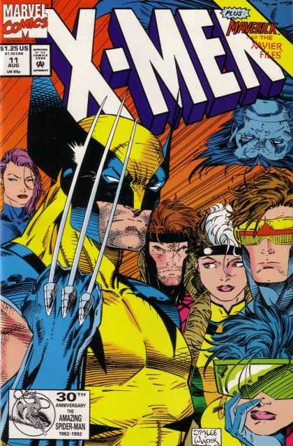 X-Men 11 - Marvel - Maverick - Xavier Files - Wolverine - 11 Aug - Bob Wiacek, Jim Lee