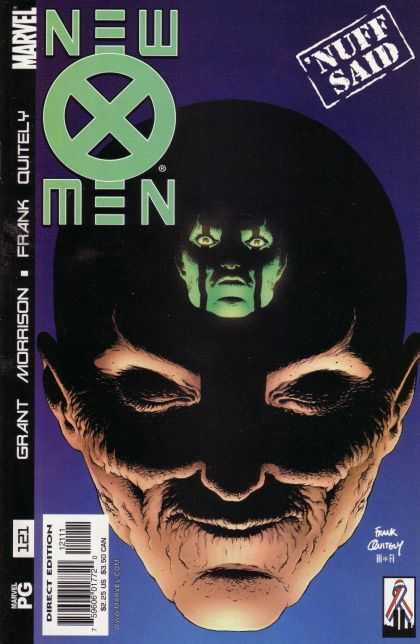 X-Men 121 - Marvel - Frank Quitely - Grant Morrison - Nuff Said - Green Head