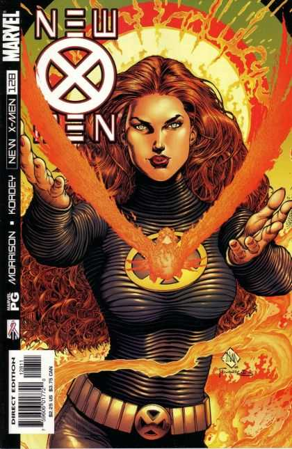 X-Men 128 - Jean Gray - Phoenix - Xmen Character - Red Curly Hair - Magic Burst