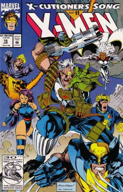 X-Men 16 - X-cutioners Song Part 11 - Cable - Havoc - Wolverine - Battle - Andy Kubert