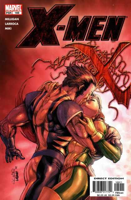 X-Men 169 - Man - Lady - Kiss - Hug - Arm - Salvador Larroca