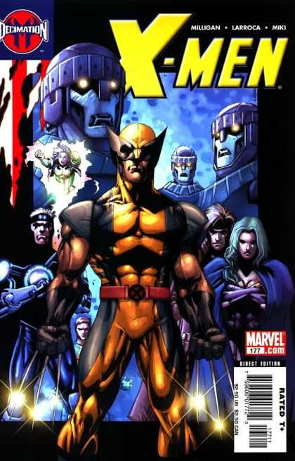 X-Men 177 - Marvel Comics - Wolverine - Rough - Robots - Claws - Salvador Larroca