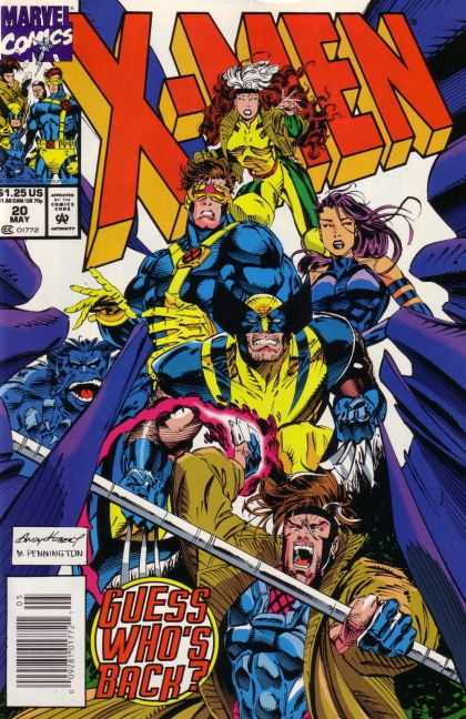 X-Men 20 - Guess Whos Back - Pennington - 20 May - Cyclops - Wolverine - Andy Kubert