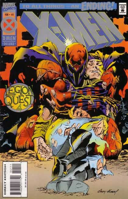 X-Men 41 - X-men - Legion Quest 4 - Injured Superhero - Torn Clothing - Masked Superhero With Cape - Andy Kubert