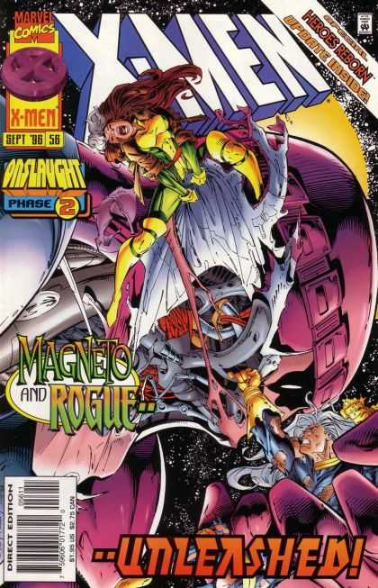 X-Men 56 - Onslaught - Phase 2 - Heroes Reborn - Magneto And Rogue - Unleashed - Andy Kubert