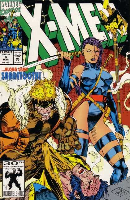 X-Men 6 - Sword - Scabbard - Sabretooth - Staff - Fist - Jim Lee
