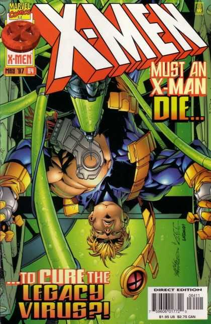 X-Men 64 - Legacy Virus - Upside-down - Restraints - Injection - Tubing - Carlos Pacheco