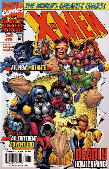 X-Men 70 - All New Mutants - Wolverine - Rogue - Storm - Deadly Homecoming - Carlos Pacheco