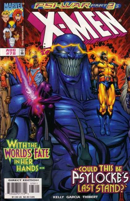 X-Men 78 - X-men - Psi-war - Marvel Comics - Psylocke - World Fate