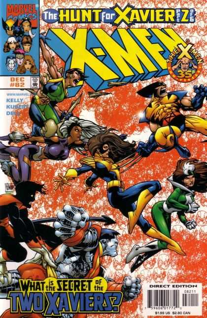 X-Men 82 - Xavier Hunt Part 2 - Wolverine - Marvel Comics - Battle Of The Ages - 35th Anniversary - Adam Kubert