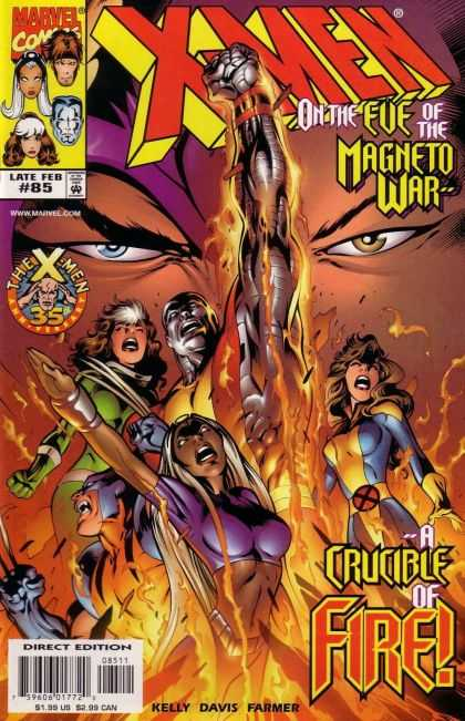 X-Men 85 - Wolverine - Magneto - Flames - On The Eve Of The Magneto War - A Crucible Of Fire - Alan Davis