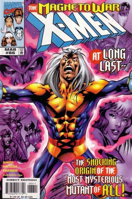 X-Men 86 - The Magneto War - At Long Last - Mar 86 - The Shocking Origin Of The Most Mysterious Mutant Of All - Nicieza - Alan Davis