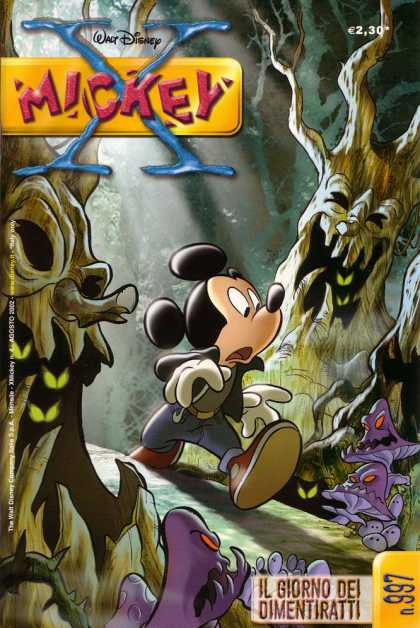X Mickey 4 - Mickey Mouse - Forest - Evil Trees - Purple Mushrooms - Scary Eyes
