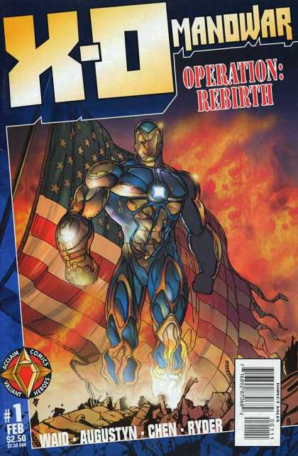 X-O Manowar 1 - Hero - Action - Us - Savior - Rebirth - Bob Layton, Sean Chen