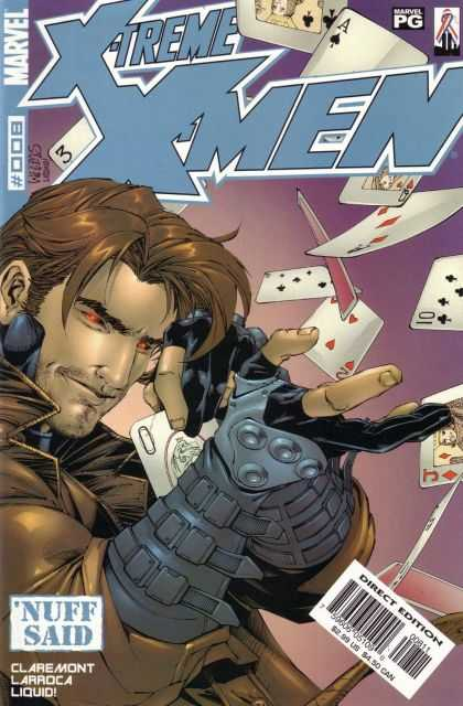 X-Treme X-Men 8 - Playing Cards - Claremont - Red Eyes - Ace Of Spades - Larroca