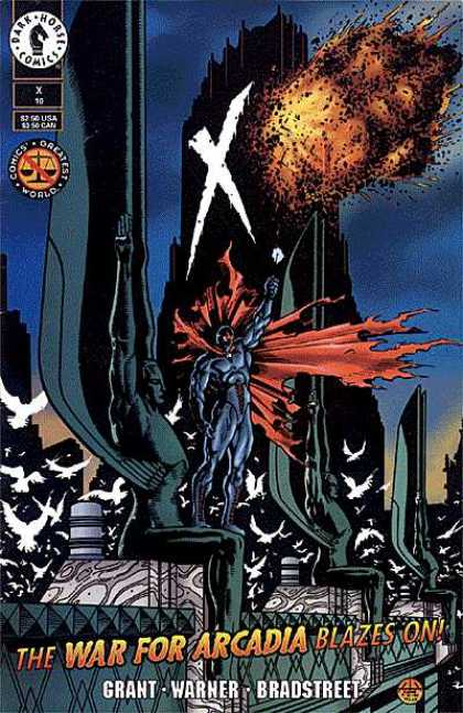 X 10 - Dark Horse - Explosion - Superhero - Cape - Building