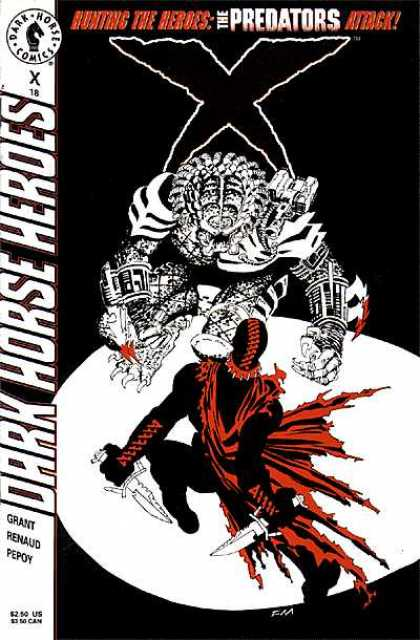 X 18 - Dark - Heroes - Presator - Red Cape - Knife - Frank Miller