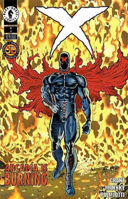 X 4 - Dark Horse Comics - Superhero - Fire - Comics - Arcadia Is Burning - Doug Mahnke, Jimmy Palmiotti