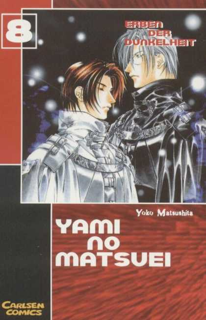 Yami No Matsuei 8 - Anime - Two Anime Men - Grey-haired Anime Male With Younger One - Snowflakes - Night Time