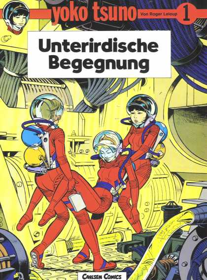 Yoko Tsuno 1 - Red - Spacesuit - Carsen Comics - Bowl - Wires