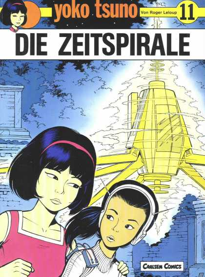 Yoko Tsuno 11 - Asian Girls - Space Ship - Future - Girl With Pink Headband - Sisters