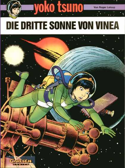 Yoko Tsuno 6 - Floating - Girl - Space - Ship - Oxygen Mask