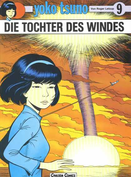 Yoko Tsuno 9 - Young Girl - Airplane - Water - Clouds - Tornado