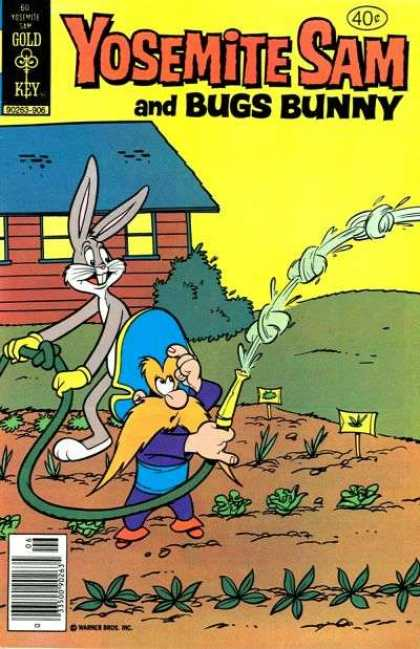 Yosemite Sam 60 - Gold Key - Bugs Bunny - Rabbit - Man - House