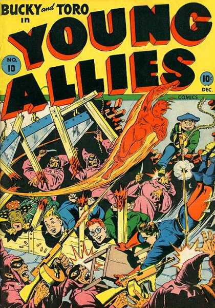 Young Allies 10 - Gun - Fire Man - Bullets - Bucky And Toro - Knife