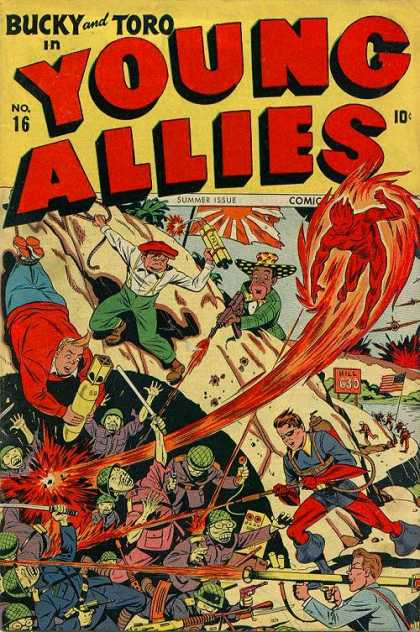 Young Allies 16 - Bucky - Toro - Bomb - Soldier - Summer Issue
