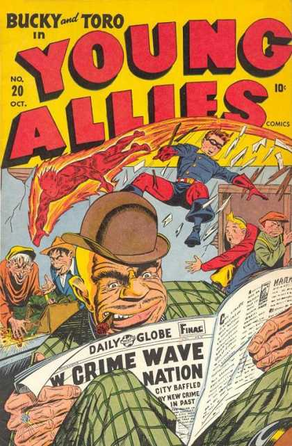 Young Allies 20 - Bucky - Toro - Newspaper - Crime Wave - Loot