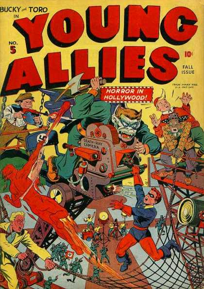 Young Allies 5 - Bucky And Toro - Horror In Hollywood - Scaffold - Nazi - Death Ray Camera