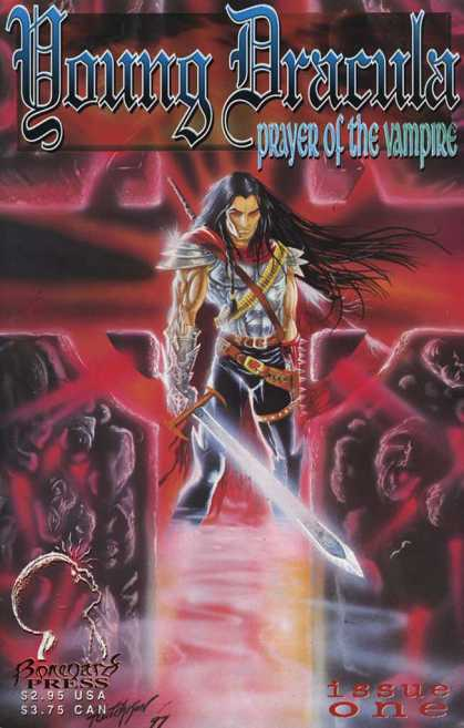 Young Dracula 1 - Prayer Of The Vampire - Dracula - Issue Number 1 - Man With Sword On Front - Man With Long Hair