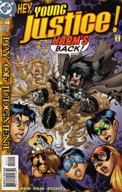 Young Justice 14 - Harms Back - No 14 - Stucker - Day Of Judgment - Monster