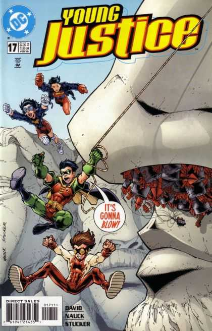 Young Justice 17 - Dc - Speech Bubble - Robin - Rope - Nauck