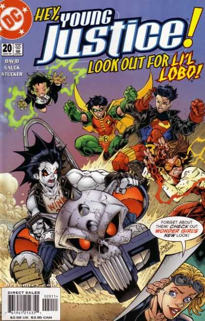 Young Justice 20 - Look Out - Skull - Wonder Girl - Lil Lobo - Flying