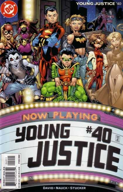 Young Justice 40 - Superheros - Movie Marquee - Collection - Now Playing - Theater