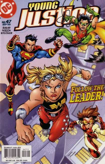 Young Justice 47 - Follow The Leader - Robin - Superman - Teenagers - Goggles