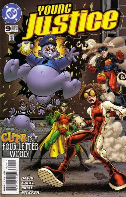 Young Justice 9 - Dc - Direct Sales - Cute Is A Four-letter Word - David - Approved By Comics Code Authority