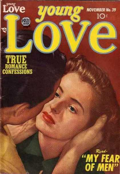 Young Love 39 - Fear - Men - Read - Woman Held By Man - Gazing At Each Other