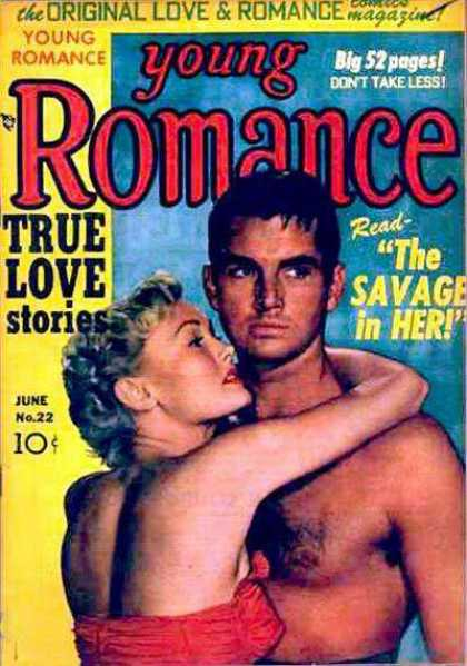 Young Romance 22 - True Love Stories - The Savage In Her - Dont Take Less - Original Love And Romance - Swimsuit