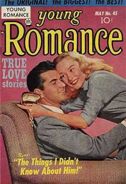 Young Romance 45 - Love Stories - Man - Woman - Hugging - Snuggling