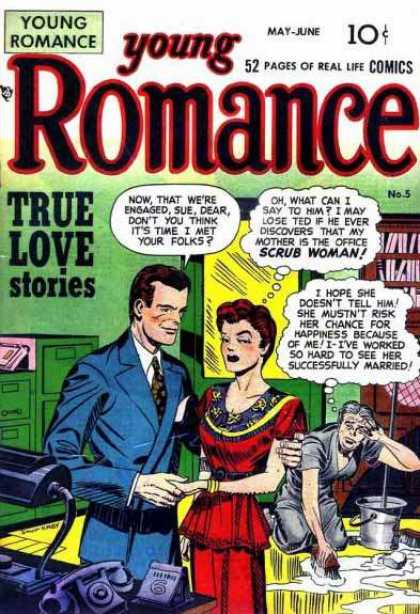 Young Romance 5 - May-june - Comics - True Love Stories - Man - Woman