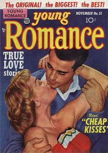 Young Romance 51 - Young Romance - True Love Stories - Nobember No 51 - Cheap Kisses - Couple
