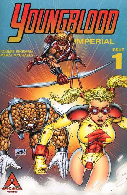 Youngblood Imperial 1 - Robert Kirkman - Marat Mychaels - Sword - 1 - Pig Tails