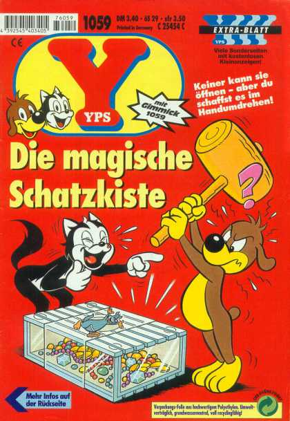 Yps - Die magische Schatzkiste - Cat - Dog - Gimmick - Hammer - Question Mark
