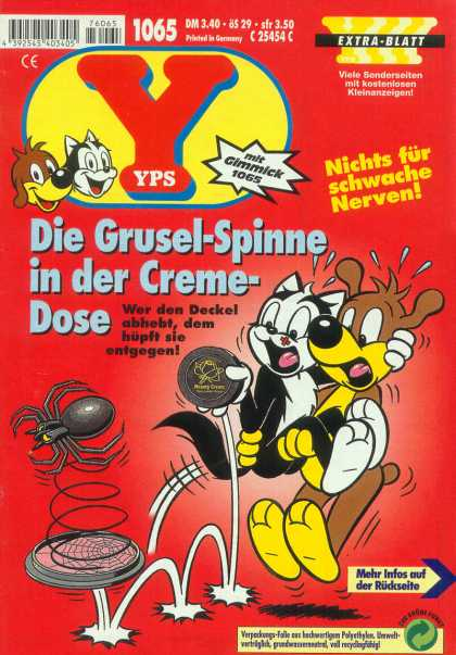 Yps - Die Grusel-Spinne in der Creme-Dose - Cat - Dog - Spider - Bouncing - Gimmick